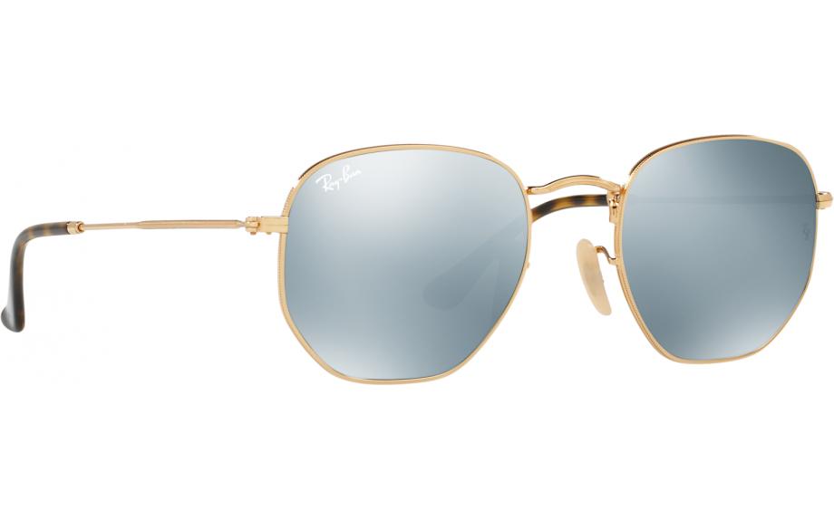 f1f5503e83fec Ray-Ban Hexagonal RB3548N 001 30 48 Sunglasses - Free Shipping   Shade  Station